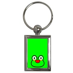 Animals Frog Face Green Key Chains (rectangle)  by Alisyart