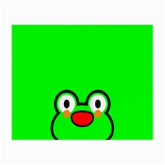 Animals Frog Face Green Small Glasses Cloth (2 Side) by Alisyart