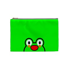 Animals Frog Face Green Cosmetic Bag (medium)  by Alisyart