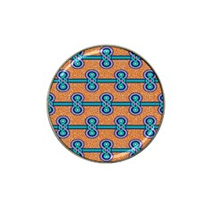 African Fabric Iron Chains Blue Orange Hat Clip Ball Marker (10 Pack) by Alisyart