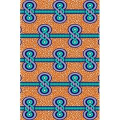 African Fabric Iron Chains Blue Orange 5 5  X 8 5  Notebooks by Alisyart