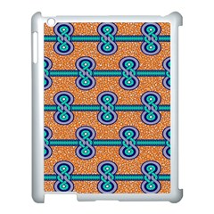 African Fabric Iron Chains Blue Orange Apple Ipad 3/4 Case (white) by Alisyart
