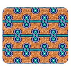 African Fabric Iron Chains Blue Orange Double Sided Flano Blanket (small)  by Alisyart