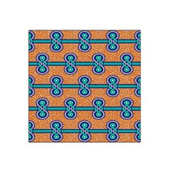 African Fabric Iron Chains Blue Orange Satin Bandana Scarf