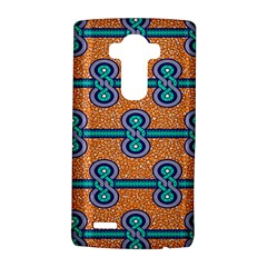 African Fabric Iron Chains Blue Orange Lg G4 Hardshell Case by Alisyart