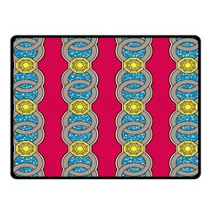 African Fabric Iron Chains Red Yellow Blue Grey Fleece Blanket (small) by Alisyart