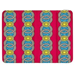 African Fabric Iron Chains Red Yellow Blue Grey Samsung Galaxy Tab 7  P1000 Flip Case by Alisyart