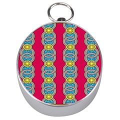 African Fabric Iron Chains Red Yellow Blue Grey Silver Compasses by Alisyart