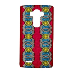 African Fabric Iron Chains Red Yellow Blue Grey Lg G4 Hardshell Case by Alisyart