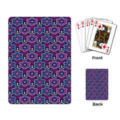 African Fabric Flower Purple Playing Card by Alisyart