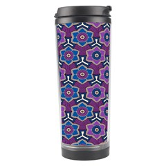 African Fabric Flower Purple Travel Tumbler by Alisyart