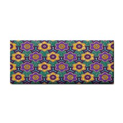 African Fabric Flower Green Purple Cosmetic Storage Cases by Alisyart