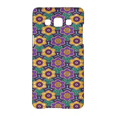 African Fabric Flower Green Purple Samsung Galaxy A5 Hardshell Case  by Alisyart