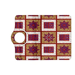 African Fabric Star Plaid Gold Blue Red Kindle Fire Hd (2013) Flip 360 Case by Alisyart