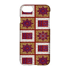 African Fabric Star Plaid Gold Blue Red Apple Iphone 7 Hardshell Case by Alisyart