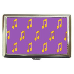 Eighth Note Music Tone Yellow Purple Cigarette Money Cases by Alisyart