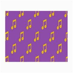 Eighth Note Music Tone Yellow Purple Small Glasses Cloth (2 Side) by Alisyart