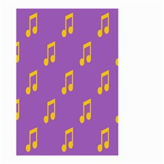 Eighth Note Music Tone Yellow Purple Small Garden Flag (two Sides) by Alisyart