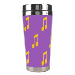 Eighth Note Music Tone Yellow Purple Stainless Steel Travel Tumblers by Alisyart