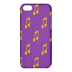 Eighth Note Music Tone Yellow Purple Apple Iphone 5c Hardshell Case by Alisyart