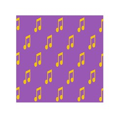 Eighth Note Music Tone Yellow Purple Small Satin Scarf (square) by Alisyart