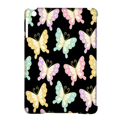 Butterfly Fly Gold Pink Blue Purple Black Apple Ipad Mini Hardshell Case (compatible With Smart Cover) by Alisyart