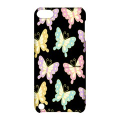 Butterfly Fly Gold Pink Blue Purple Black Apple Ipod Touch 5 Hardshell Case With Stand by Alisyart