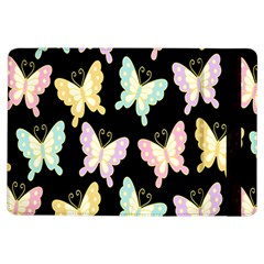 Butterfly Fly Gold Pink Blue Purple Black Ipad Air Flip by Alisyart