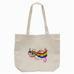 Color Music Notes Tote Bag (cream) by Alisyart