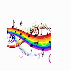 Color Music Notes Large Garden Flag (two Sides) by Alisyart