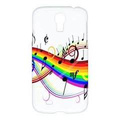Color Music Notes Samsung Galaxy S4 I9500/i9505 Hardshell Case by Alisyart