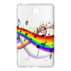 Color Music Notes Samsung Galaxy Tab 4 (7 ) Hardshell Case  by Alisyart