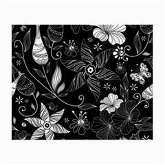 Floral Flower Rose Black Leafe Small Glasses Cloth by Alisyart