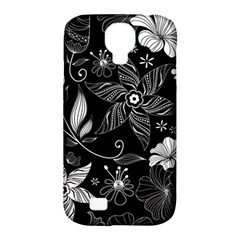 Floral Flower Rose Black Leafe Samsung Galaxy S4 Classic Hardshell Case (pc+silicone) by Alisyart