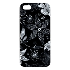 Floral Flower Rose Black Leafe Iphone 5s/ Se Premium Hardshell Case by Alisyart
