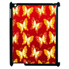 Butterfly Gold Red Yellow Animals Fly Apple Ipad 2 Case (black) by Alisyart