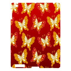 Butterfly Gold Red Yellow Animals Fly Apple Ipad 3/4 Hardshell Case by Alisyart