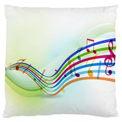 Color Musical Note Waves Standard Flano Cushion Case (two Sides) by Alisyart