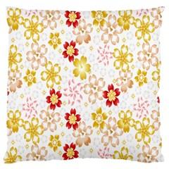 Flower Arrangements Season Rose Gold Standard Flano Cushion Case (two Sides) by Alisyart