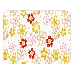 Flower Arrangements Season Rose Gold Double Sided Flano Blanket (large)  by Alisyart