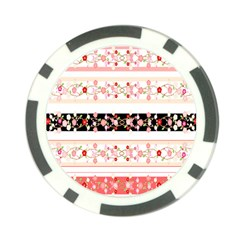 Flower Arrangements Season Floral Rose Pink Black Poker Chip Card Guard by Alisyart