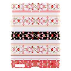 Flower Arrangements Season Floral Rose Pink Black Apple Ipad 3/4 Hardshell Case by Alisyart