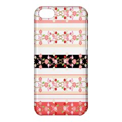 Flower Arrangements Season Floral Rose Pink Black Apple Iphone 5c Hardshell Case by Alisyart