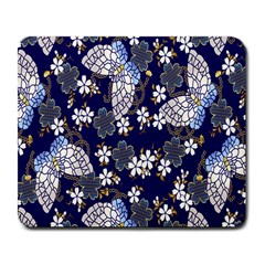 Butterfly Iron Chains Blue Purple Animals White Fly Floral Flower Large Mousepads by Alisyart