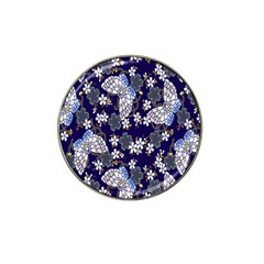 Butterfly Iron Chains Blue Purple Animals White Fly Floral Flower Hat Clip Ball Marker (10 Pack) by Alisyart
