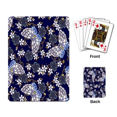 Butterfly Iron Chains Blue Purple Animals White Fly Floral Flower Playing Card by Alisyart