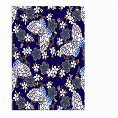 Butterfly Iron Chains Blue Purple Animals White Fly Floral Flower Large Garden Flag (two Sides) by Alisyart