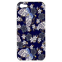 Butterfly Iron Chains Blue Purple Animals White Fly Floral Flower Apple Iphone 5 Hardshell Case by Alisyart
