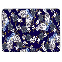 Butterfly Iron Chains Blue Purple Animals White Fly Floral Flower Samsung Galaxy Tab 7  P1000 Flip Case by Alisyart