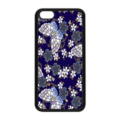 Butterfly Iron Chains Blue Purple Animals White Fly Floral Flower Apple Iphone 5c Seamless Case (black) by Alisyart